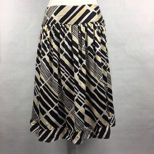 Bob Mackie yellow, white, black silk skirt