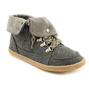 Rocket Dog Shoes - Rocket Dog gray lace-up casual high top sneaker