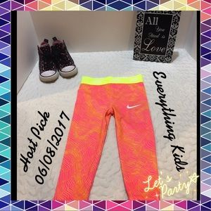 Nike Other - LAST ONE! Adorable Nike Dri-Fit Pink/Yllw Leggings