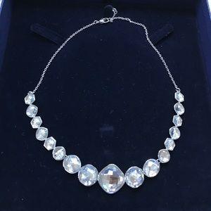 Swarovki large crystal round necklace choker