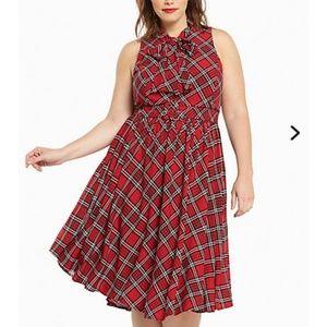 Dresses & Skirts - Torrid plaid retro dress