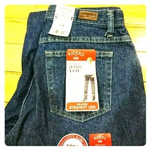 Lee Denim - Riders Lee Jeans relaxed straight leg size 10 NWT