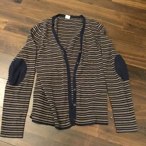 J. Crew Pima cotton cardigan with elbow patches
