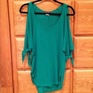 Wet Seal Sweaters - 💕CLEARANCE💕Teal Cold-Shoulder Sweater