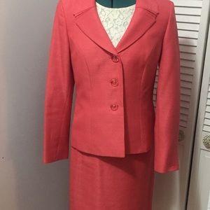 Le Suit Dresses & Skirts - A Classy & Fabulous Coral Skirt Suit