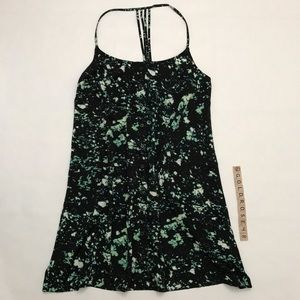 Hurley black and green patterned dress