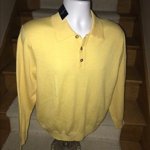 Club Room Other - Club Room merino wool bright polo sweater men's M