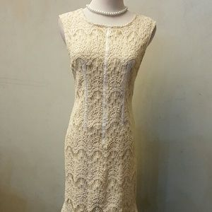 Moon Collection Dresses & Skirts - Cream crochet dress