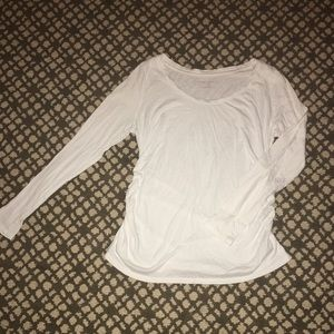 Long sleeve gathered Maternity Top Size Large
