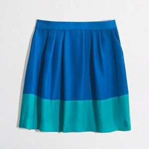 J. Crew Factory pleated colorblock skirt