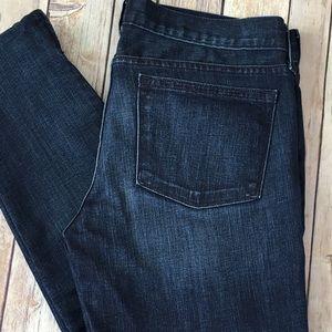 J. Crew Denim - J.Crew Jeans Toothpick Skinny Zipper Ankle 30 Dark