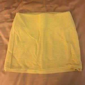 Pale yellow BCBG GENERATION Skirt