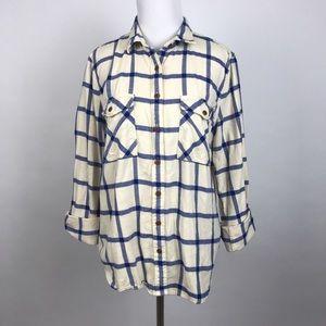 [J Crew] Rockport Plaid Boyfriend Shirt Flannel 12