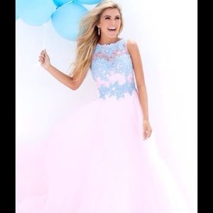 Tony Bowls Dresses & Skirts - Tony Bowls Le Gala Pink & Blue Size 6 Gown NWT