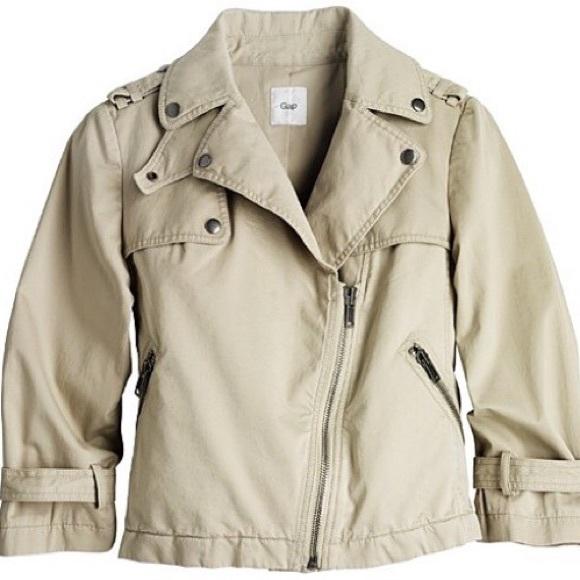 ff4b7d21e3332 GAP Jackets & Blazers - Alexander Wang for GAP Khaki Cropped Moto Jacket