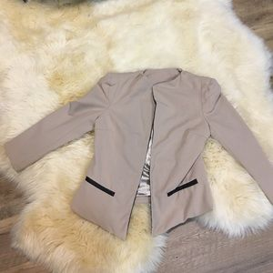 Jackets & Blazers - Chic Tan Blush Blazer