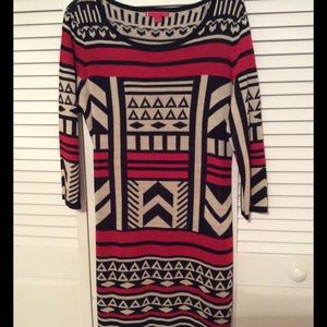 Liv Dresses & Skirts - NWOT Aztec print sweater dress