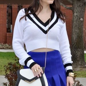 Nasty Gal Sweaters - White cropped sweater