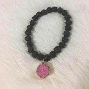 designsbyci Jewelry - Hand made lava stretch bracelet