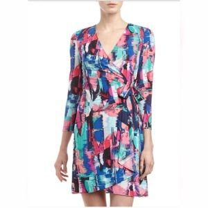 BCBGMaxAzria Dresses & Skirts - BCBGMaxazria Adele Wrap Dress Multi Color