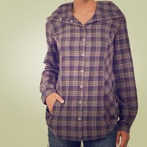 Royal Robbins Tops - Royal Robbins Metro Plaid Tunic