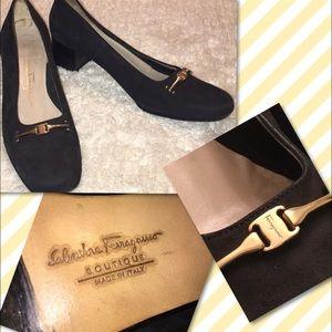 Salvatore Ferragamo Shoes - Salvatore Ferragamo Suede Heels