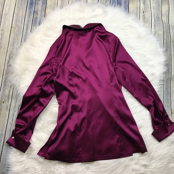 Soft Surroundings Tops - Soft Surroundings Purple Silk Stretch Blouse