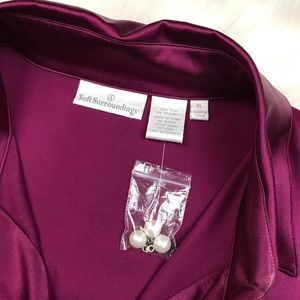 Soft Surroundings Tops - Soft Surroundings Purple Silk Stretch Blouse