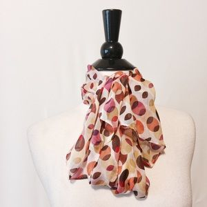 Kenneth Cole Accessories - Silk Multicolored Printed Dots Scarf