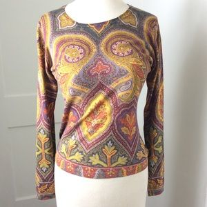 Etro Sweaters - ETRO Paisley Cashmere blend Sweater top 42 4 6 m