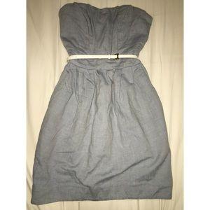 H&M Light Denim Babydoll Strapless Dress Size 2