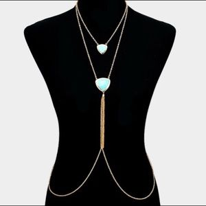 Jewelry - Body Chain with Turquoise Pendants
