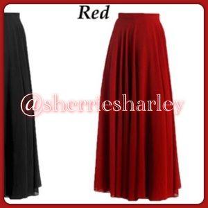 Dresses & Skirts - ❤️Plus Size 14 Sexy Red Chiffon Skirt NWT ♥️