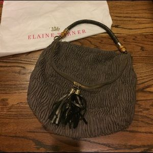 Elaine Turner Handbags - Elaine Turner Gray Stacy Hobo