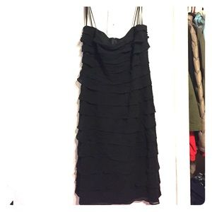 Black dress with ruffles!