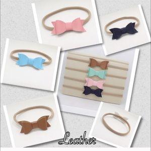 Other - 🌻Newborn leather bow headbands🌻
