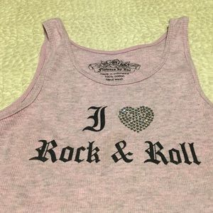 "Flowers by Zoe Other - Flowers by Zoe pink ""I ♥️ Rock & Roll"" tank top"