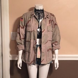 Vintage Jackets & Blazers - Vintage camo jacket, button down