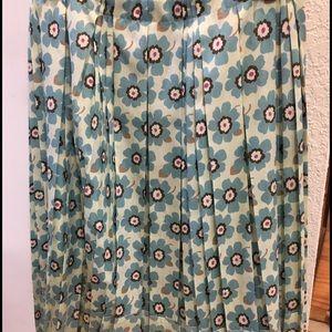 54c155818e4 ... Vera Wang Lavender Label midi pleated floral skirt ...