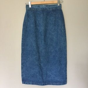 Guess by Marciano Dresses & Skirts - Guess vintage 80s denim  jean skirt 26