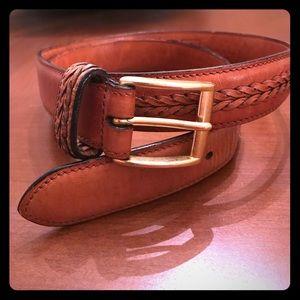 Coach Other - COACH ✨ Rare Vintage British Tan Leather Belt✨✨