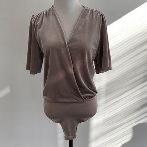 Mauve Velvet bodysuit