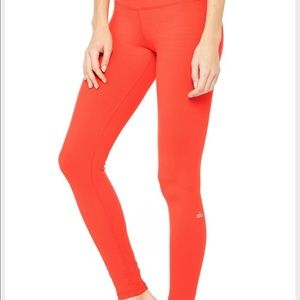 ALO Yoga Pants - ALO AIRBRUSH 🖤BRIGHT NEON ORANGE