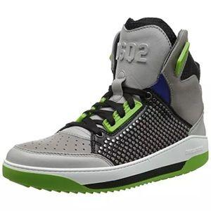 DSQUARED Other - Dsquared2👟👟Vitello Black Fashion Sneaker Size 43