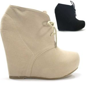 Bakers Shoes - NUDE BOOTIE WEDGE