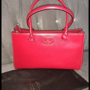 NWT Kate Spade Martine Wellesley Handbag in Garnet