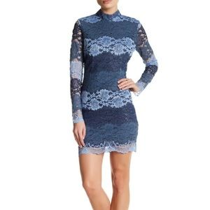 Romeo and Juliet Couture Long Sleeve Lace Dress