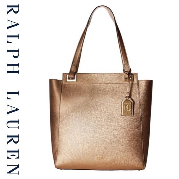 Ralph Lauren Gold Leaf Carlisle Afton Tote NWT