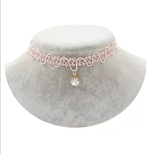 Jewelry - One more left! Baby pink super cute skinny choker
