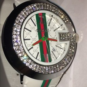 0c5bf405700 Gucci Accessories - White Crystal Gucci Watch